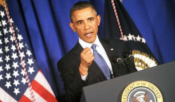 Presiden AS Barack Obama, ketika berbicara di malam Business Council di Washington DC.
