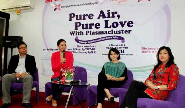 Acara Talkshow Sharp Pure Air, Pure Love with Plasmacluster