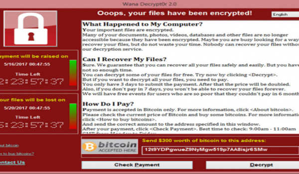 Ransomware WannaCry atau Wanna Decryptor
