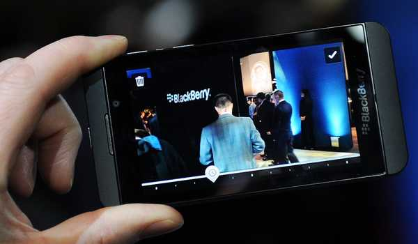 Tampilan BlackBerry Z10