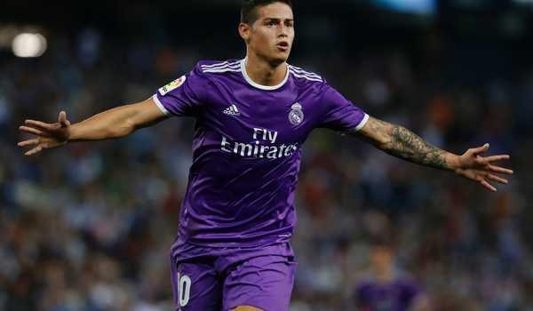 Pemain Real Madrid, James Rodriguez.