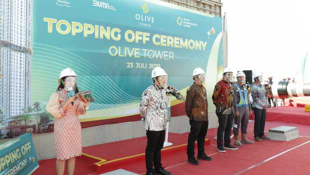 Topping Off Ceremony Olive Tower