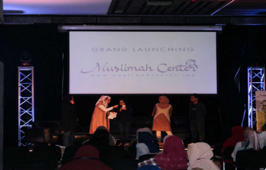 Acara grand launching Muslimah Center.