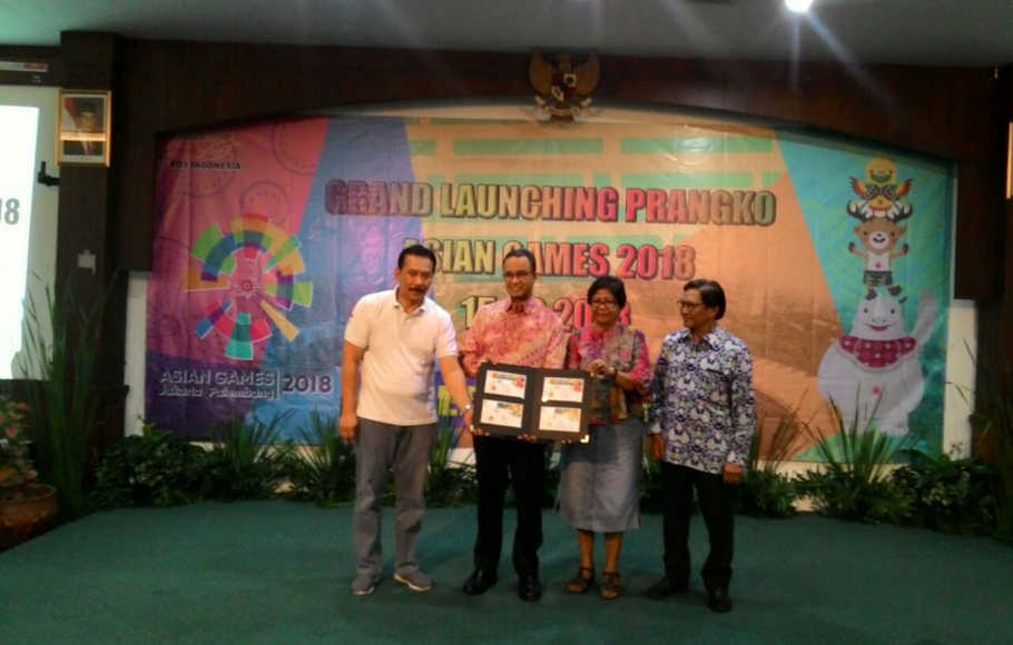 Pos Indonesia  Luncurkan Prangko Seri Asian Games 18