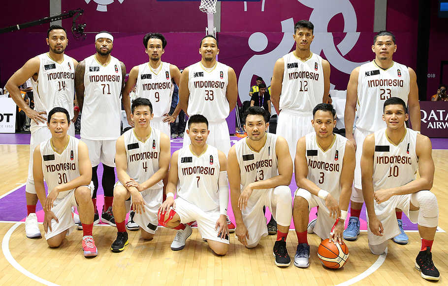 Tim basket Indonesia.