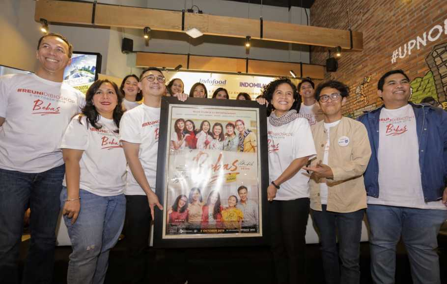 Press Conference Film 'Bebas' di Warunk Upnormal, Sudirman Plaza Indofood Tower, Jakarta, Kamis (5/9/2019).