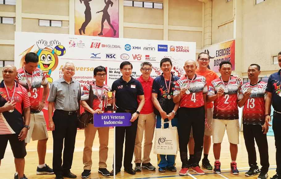 Tim Veteran Voli Indonesia Sabet Runer Up di Singapura