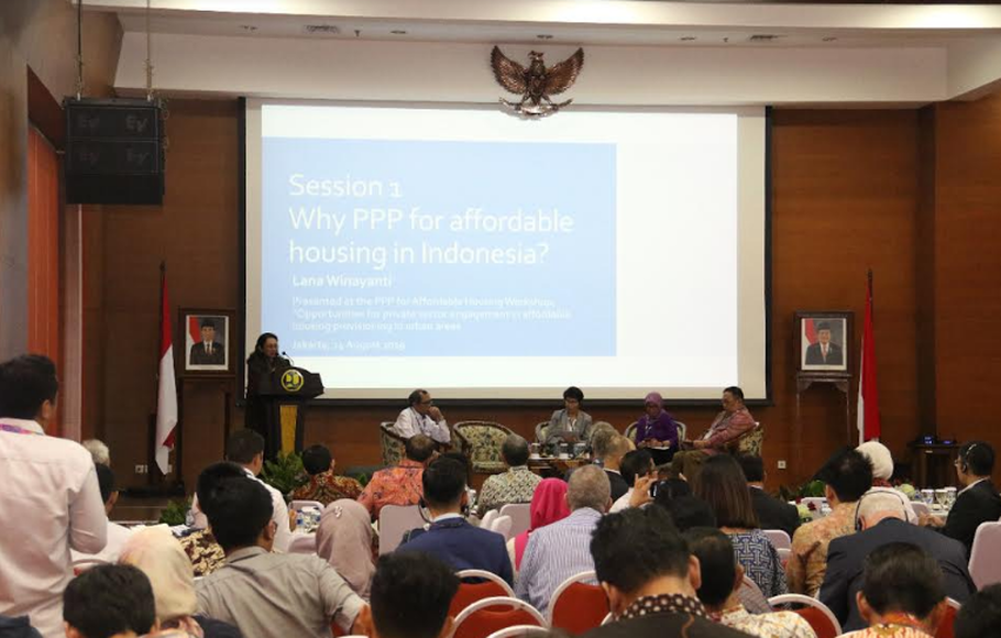 Acara Workshop Public Private Partnership (PPP) for Affordable Housing di Jakarta, beberapa waktu lalu.