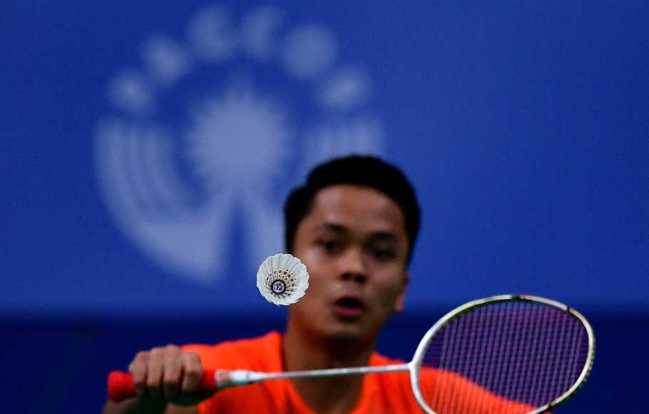 Tunggal putra Indonesia Anthony Sinisuka Ginting.
