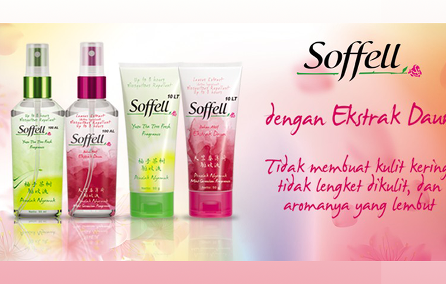 Lotion dan spray anti-nyamuk Soffell.