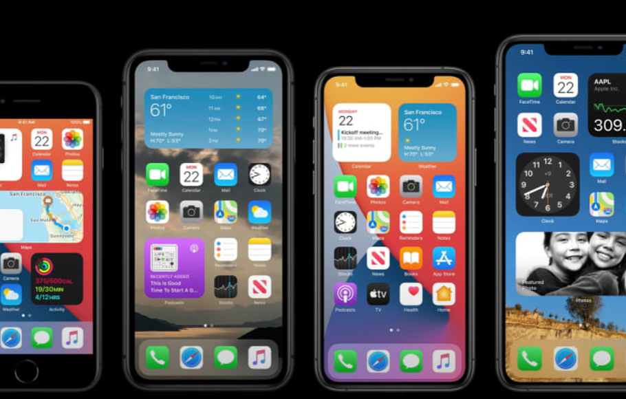 Sistem operasi iOS 14 Apple iPhone.