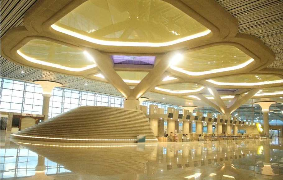 Tampilan interior New Yogyakarta International Airport (NYIA)
