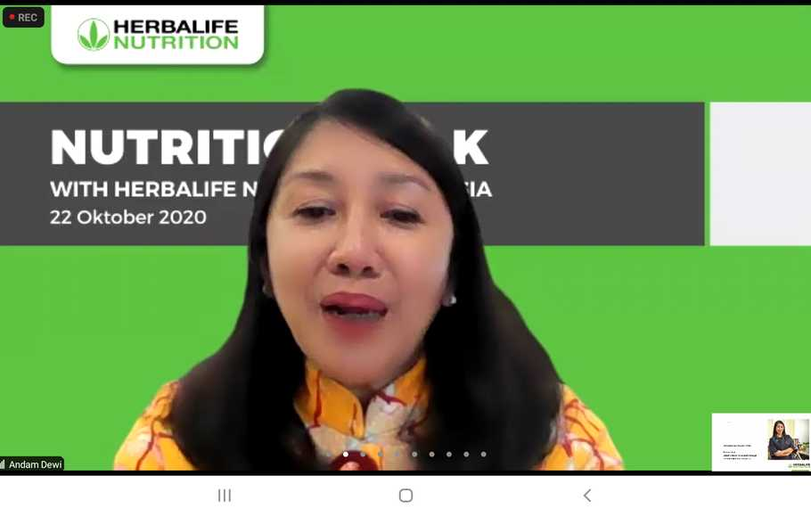 Senior Director & Country General Manager Herbalife Nutrition Indonesia, Andam Dewi.