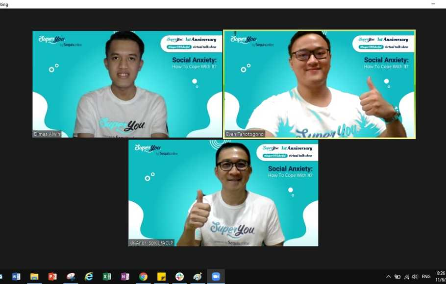 Virtual talk show SuperYou bertajuk #SuperONEderful, Sabtu (7/11/2020).