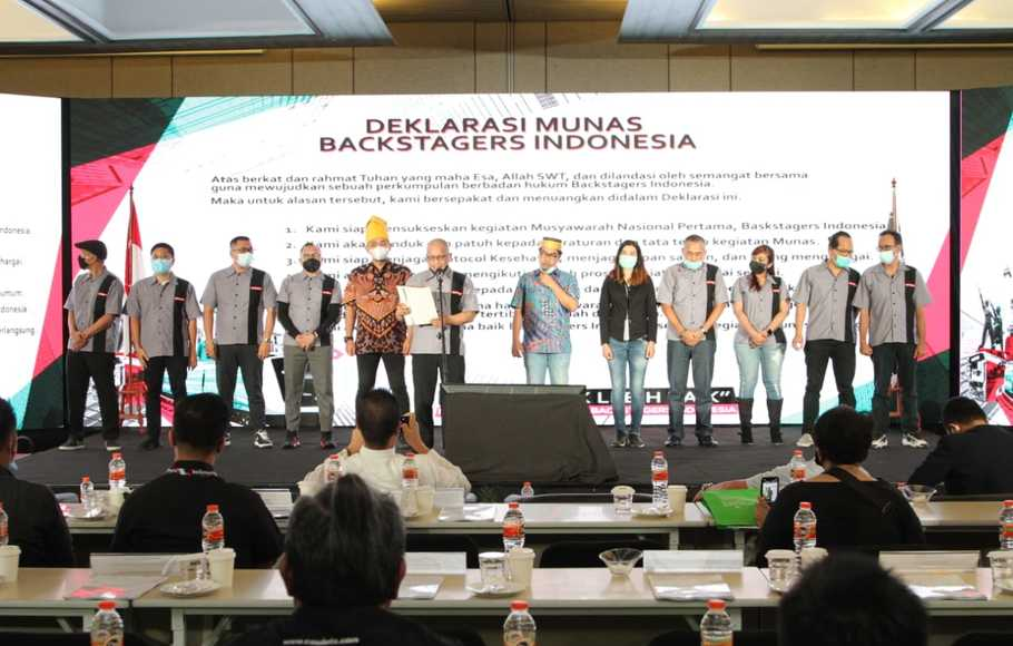 Deklarasi Munas Forum Backstagers Indonesia pada 26 November 2020.