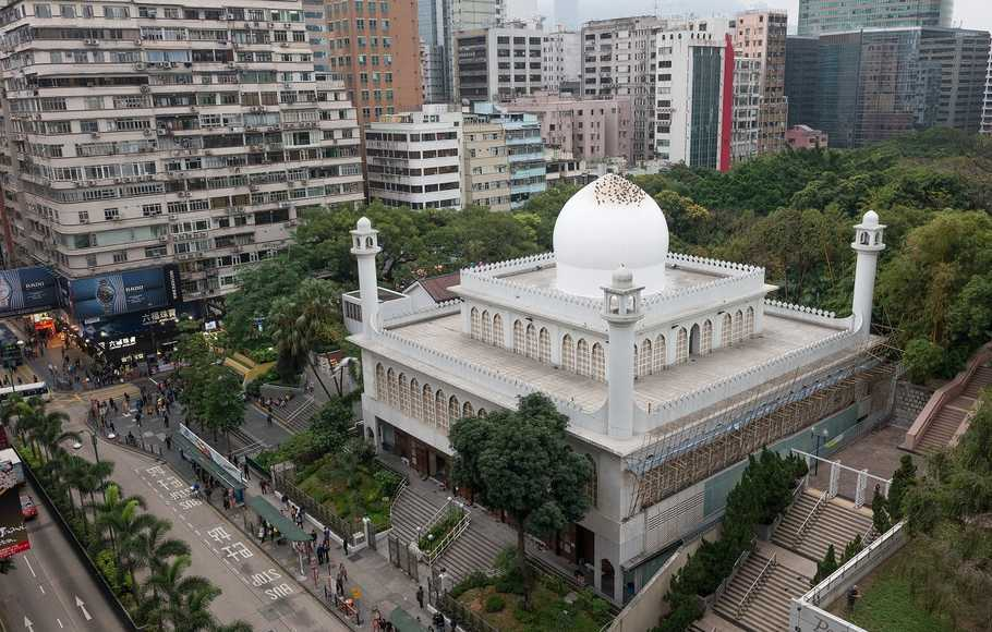 Masjid Kowloon di Hong Kong.