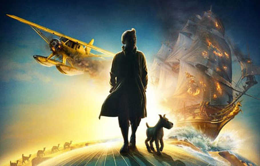 Poster film The Adventure of Tintin