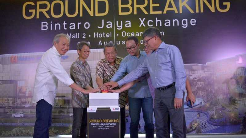 Groundbreaking Bintaro Jaya Exchange Mall Pashe II, di Bintaro, Rabu (7/8).