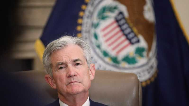 Gubernur The Federal Reserve Jerome Powell. ( Foto: Win McNamee/Getty Images/AFP )