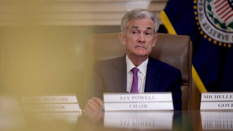 Gubernur The Fed Jerome Powell. ( Foto:  Win McNamee/Getty Images/AFP )