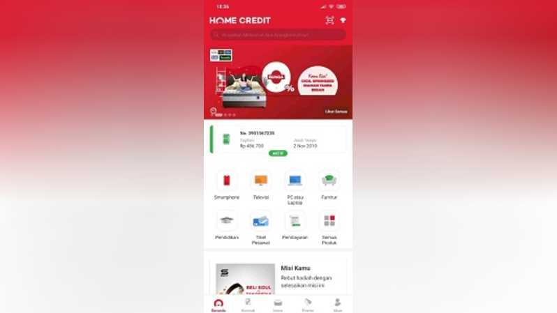 Fitur mobile My Home Credit