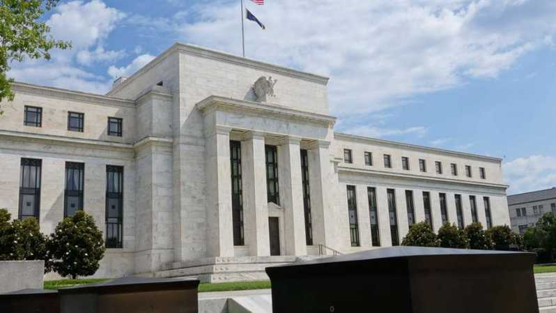 Gedung The Federal Reserve (The Fed) di Washington, D.C Amerika Serikat. ( Foto: AFP )