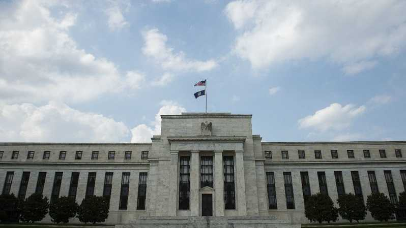 Gedung The Federal Reserve (The Fed) Amerika Serikat. ( Foto: AFP Photo/ANDREW CABALLERO-REYNOLDS )