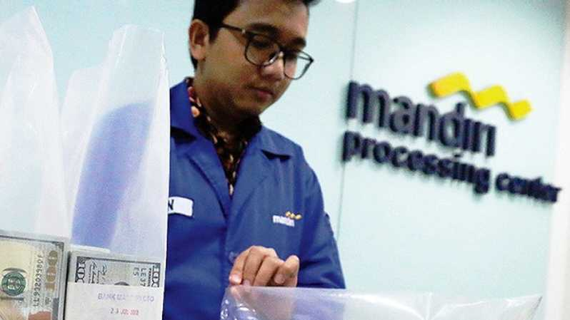 Bank Mandiri.Foto: Investor Daily/DAVID