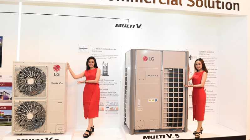 LG memperkenalkan keberadaan LG ThinQ sebagai platform pintar berwujud aplikasi pada smartphone, pada jajaran perangkat HVAC (High Ventilating and Air Conditioning) seri LG Multi V. (Foto Dok. LG)