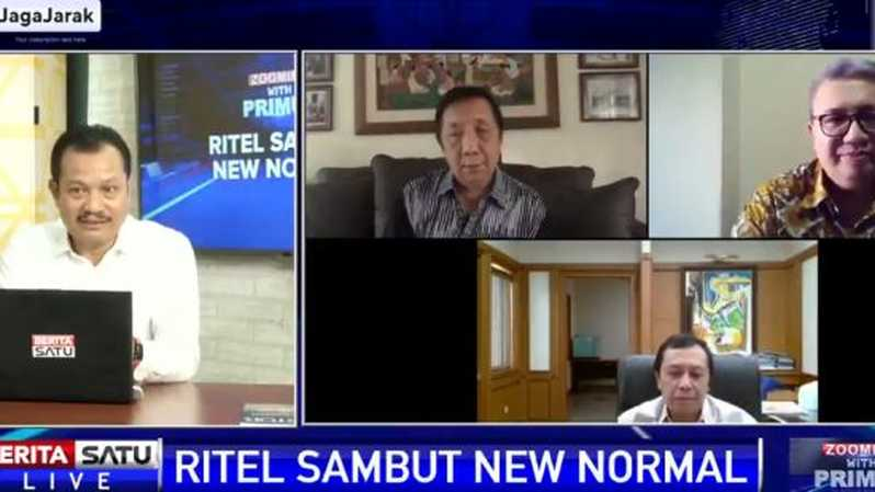 Diskusi Zooming with Primus Ritel Sambut New Normal, Selasa (2/6/2020). Sumber: BSTV