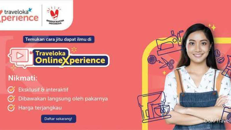 Ilustrasi program Online Xperience di Traveloka. (IST)