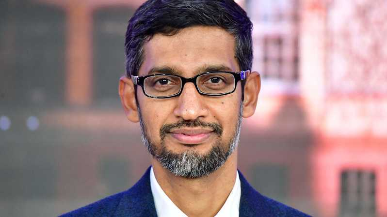 Chief Executive Office (CEO) Google, Sundar Pichai. ( Foto: AFP / Tobias SCHWARZ )