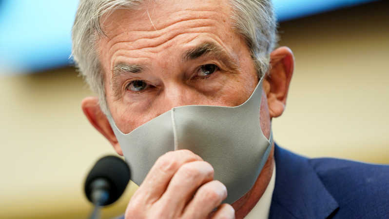 Gubernur The Fed Jerome Powell. ( Foto: JOSHUA ROBERTS / POOL / AFP )
