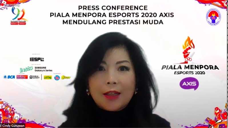 Cindy Gunawan, Senior GM Marketing Consumer Health Combiphar, saat hadir dalam konferensi pers virtual