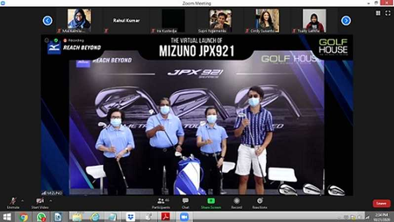 Konferensi Pers Launching of Mizuno JPX921, Rabu (21/10).