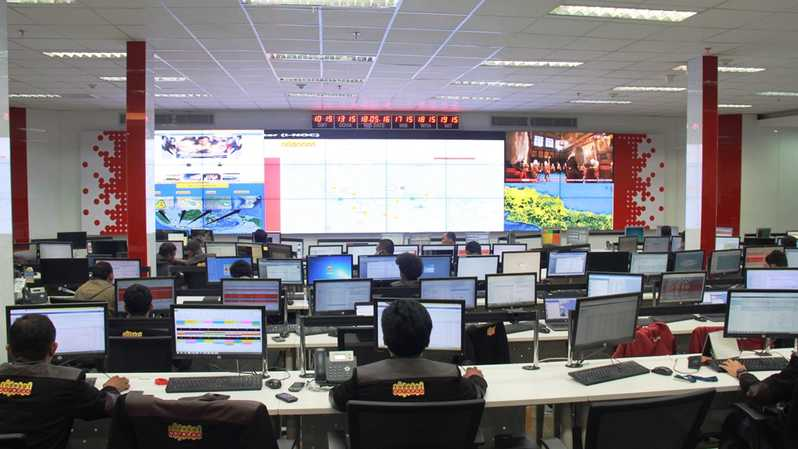 Ruang Indosat Ooredoo Network Operation Center (INOC). (IST)