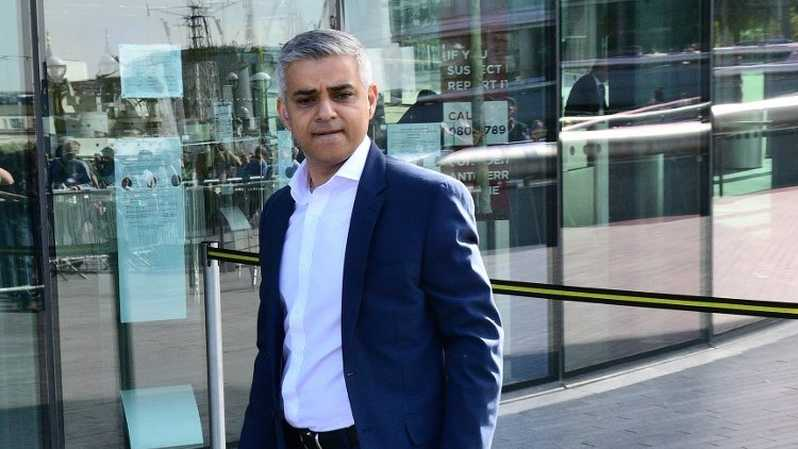 Walikota London Sadiq Khan .( Foto: AFP Photo / Leon Nea )