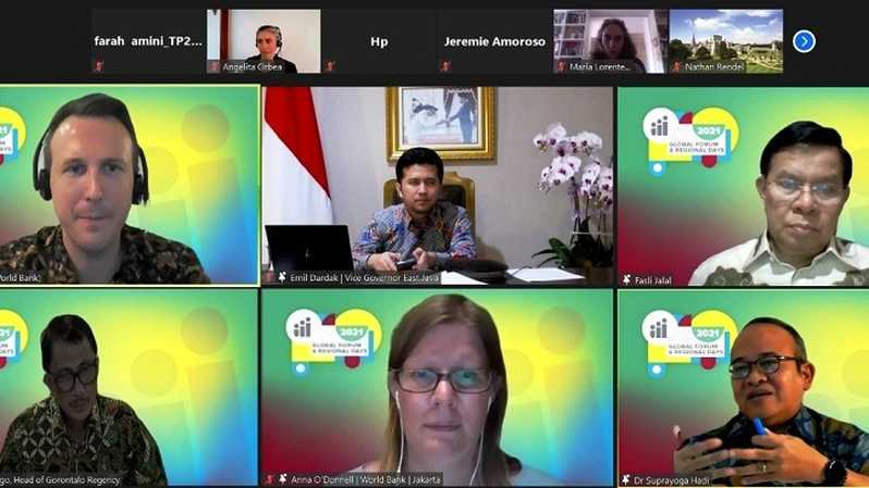 Acara Global Forum Human Capital Project 2021 yang diselenggarakan secara virtual