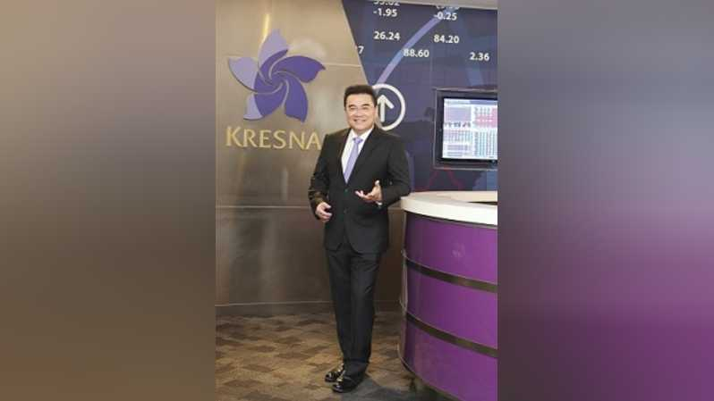 Michael Steven, Founder and CEO PT Kresna Graha Investama Tbk. Foto: Investor Daily/UTHAN