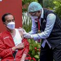 Jokowi Receives His Second Covid-19 Vaccine Injection