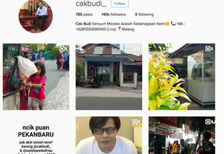 A screenshot of Cak Budi's Instagram account.
