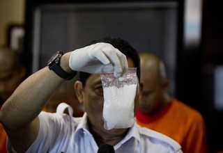 Crystal methamphetamine is a powerful, highly addictive stimulant that affects the central nervous system. (JG Photo/Yudha Baskoro)
