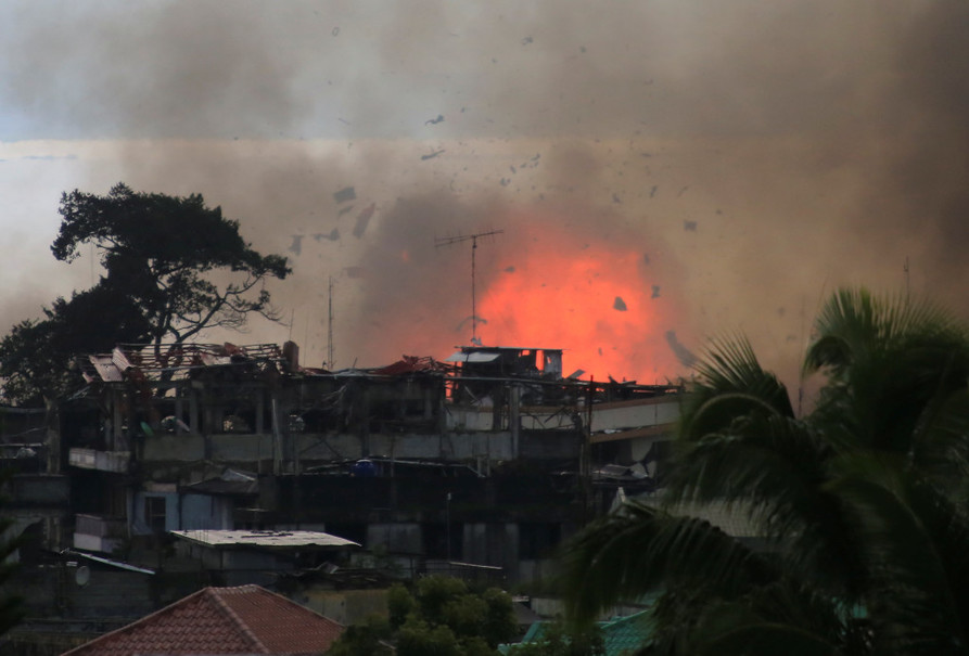 Philippine troops have been battling Islamic militants, who have held parts of Marawi City for almost three months now. (Reuters Photo/Romeo Ranoco)