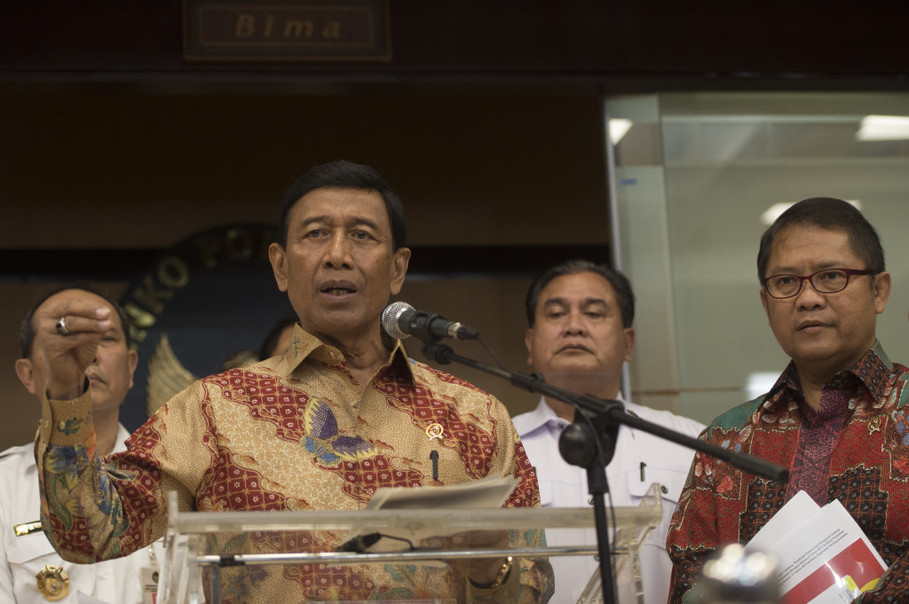 Chief Security Minister Wiranto is an influential voice behind the government's ban on Hizbut Tahrir Indonesia. (Antara Photo/Rosa Panggabean)