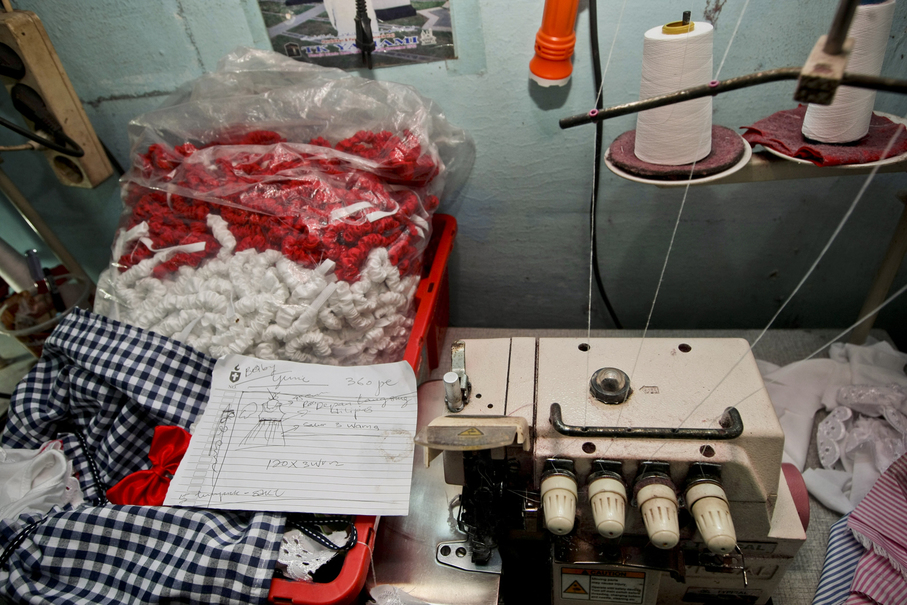 Tools used by a worker to produce clothes for a local company at her home in Penjaringan, North Jakarta, on Thursday (05/10). (JG Photo/Yudha Baskoro)