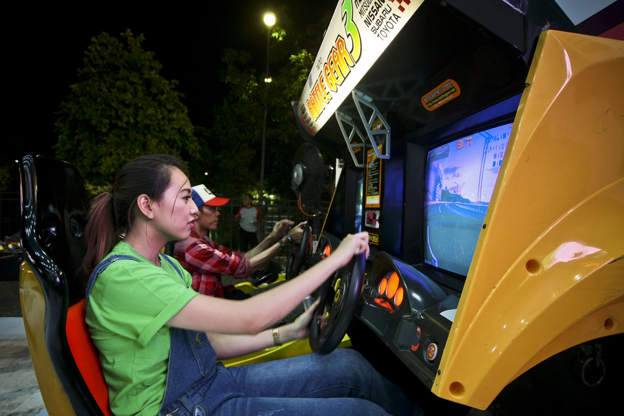 Classic arcade games were brought back to life for the festival (JG Photo/Yudha Baskoro)