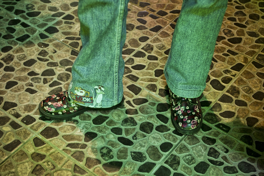 Bootcut jeans with cartoon patches were de rigeur for cool kids across Indonesia in the '90s. (JG Photo/Yudha Baskoro)