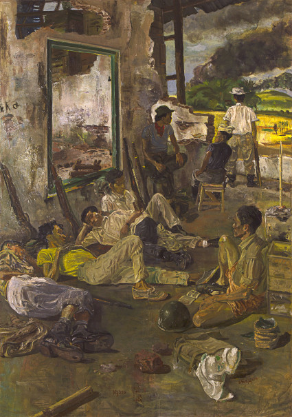 'Ngaso' or 'Relaxing' by S. Sudjojono (Photo courtesy of Museum MACAN)
