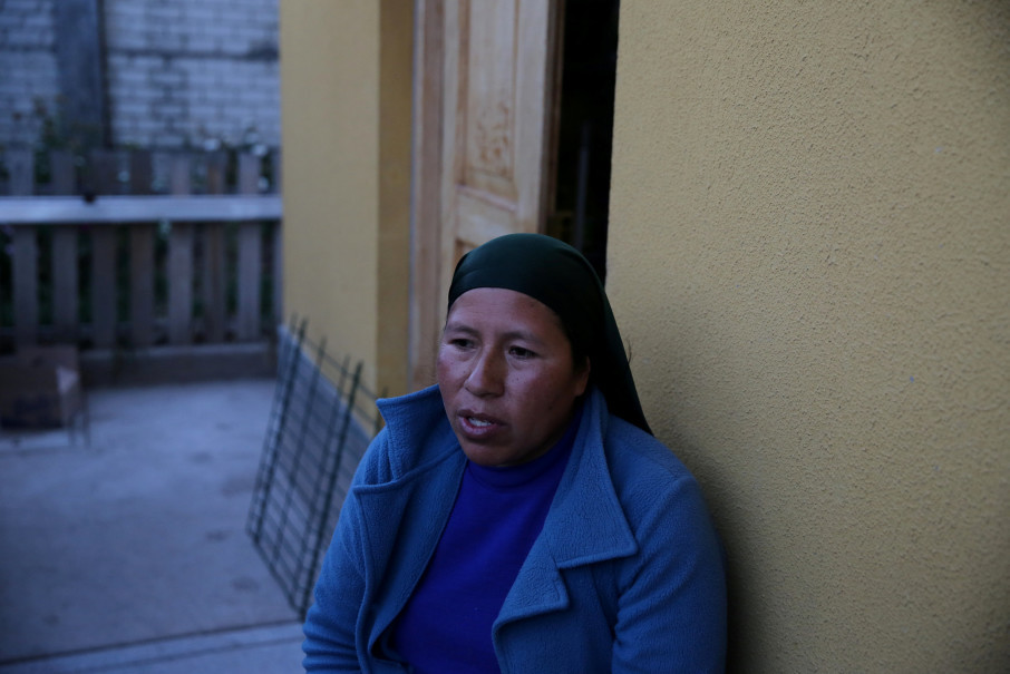 Flora Huamani, talks at her home in the town of Nueva Fuerabamba in Apurimac, Peru, October 3, 2017. Reuters Photo/Mariana Bazo