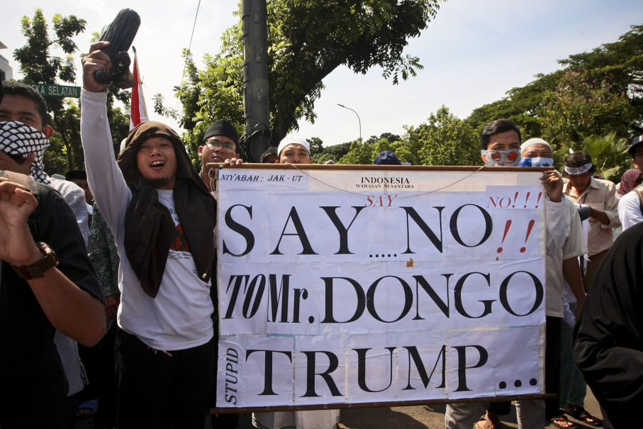 """""""Dongo"""" in local parlance means """"stupid."""" (JG Photo/Yudha Baskoro)"""